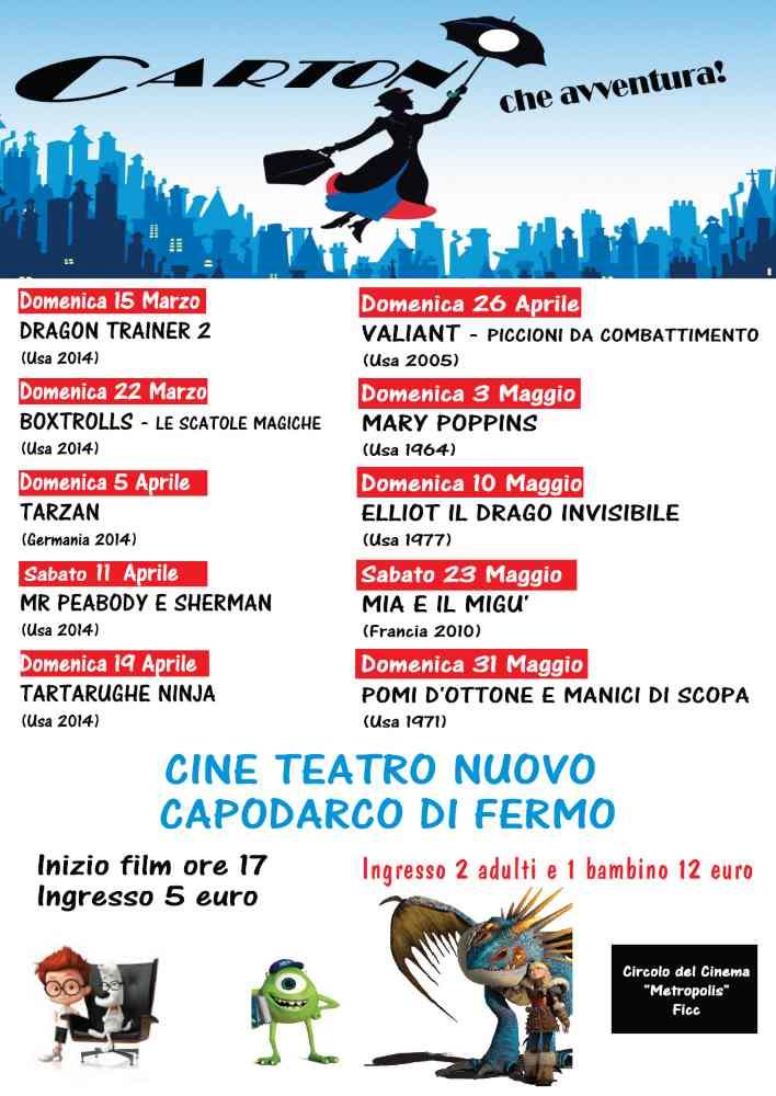 Arrivano due rassegne di cinema al Cine Teatro Nuovo di Capodarco