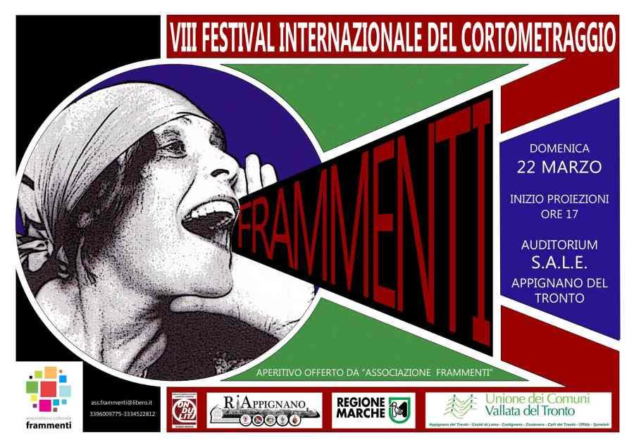 """Festival Internazionale di cortometraggi """"Frammenti"""": 8a edizione ad Appignano"""