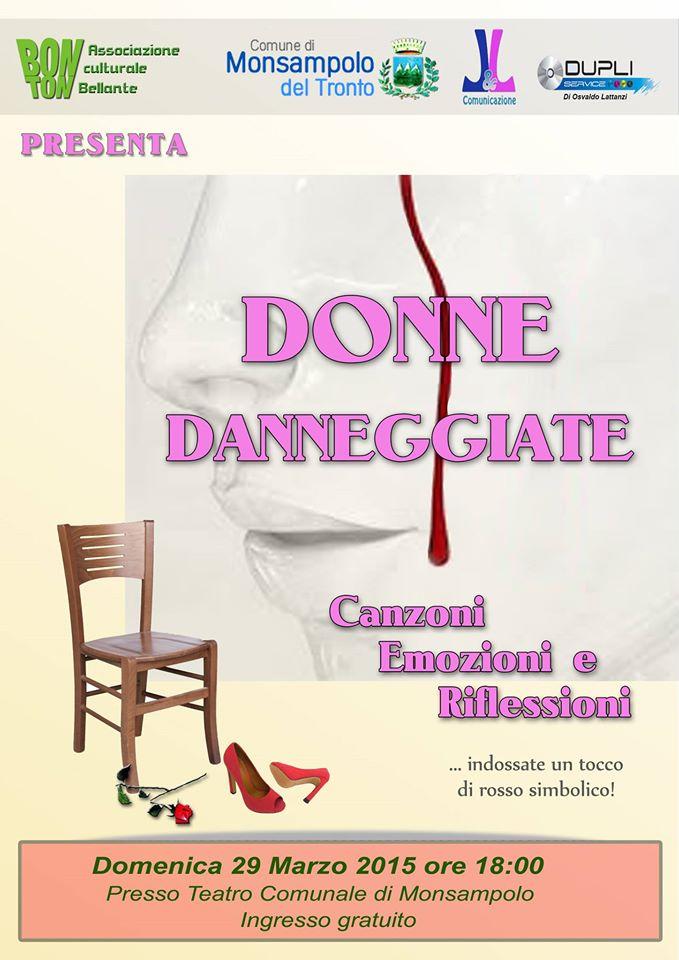 Donne danneggiate al Teatro Comunale di Monsampolo