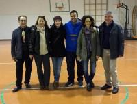 Luca Vagnoni con i cinque presidenti di quartiere