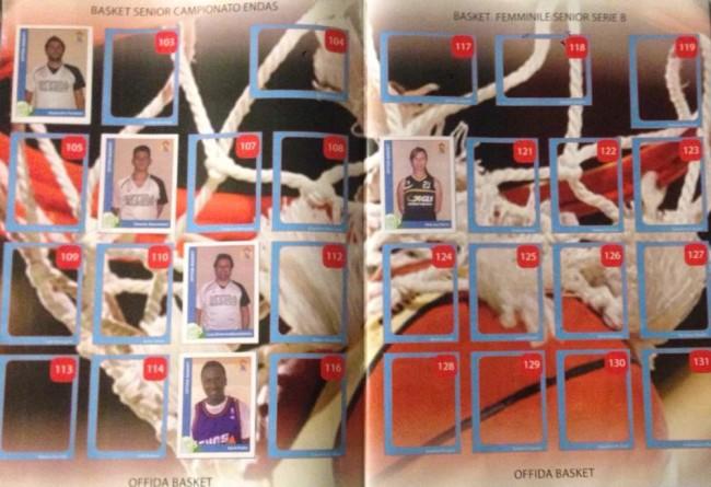Figurine degli sportivi offidani in un album