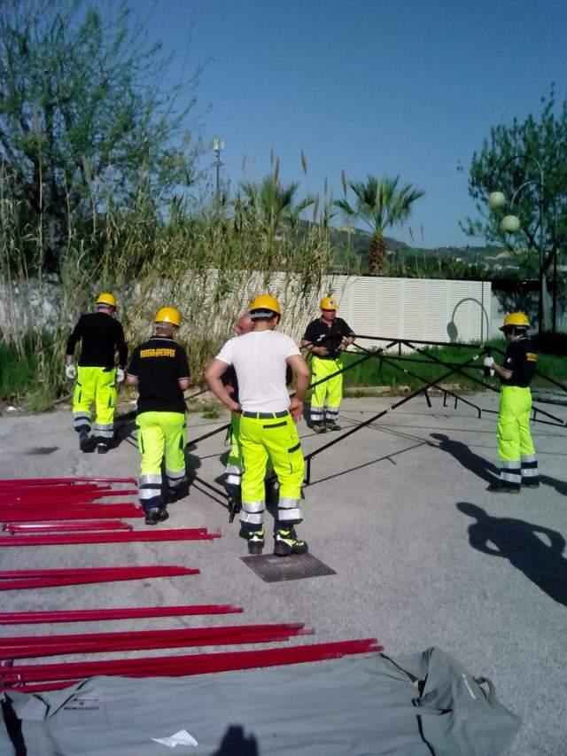 Autoaddestramento dei volontari della protezione civile ad Appignano