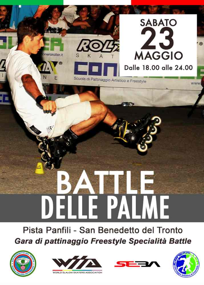 """Pattinaggio Freestyle: alla pista """"F. Panfili"""" la Battle delle Palme"""