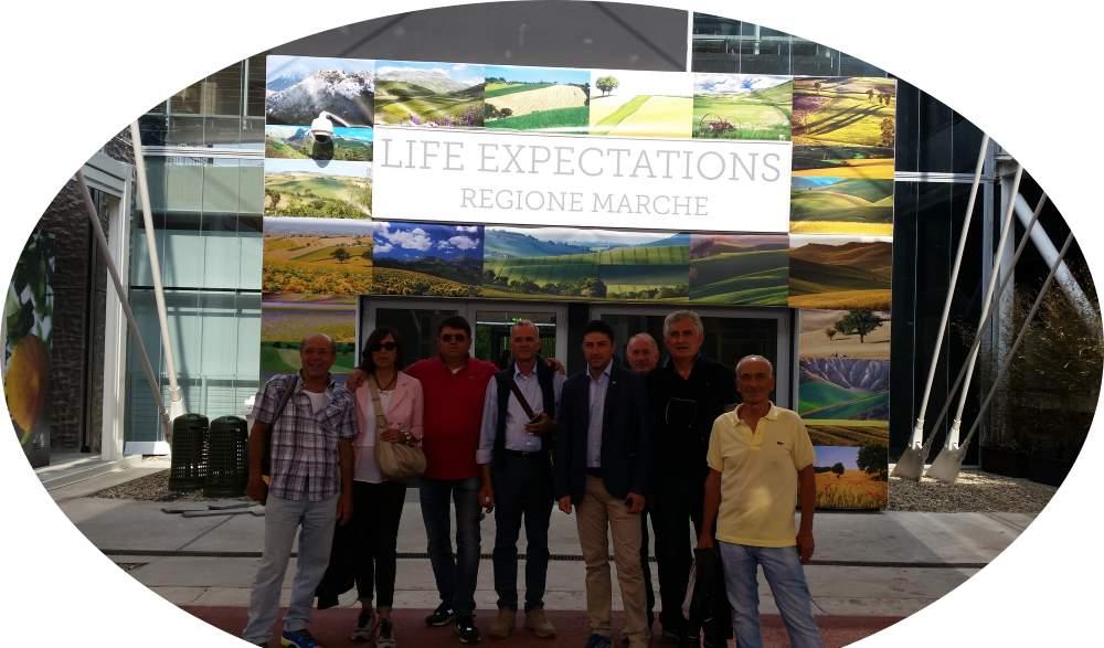 Missione degli artigiani della Cna di Ascoli Piceno all'Expo di Milano