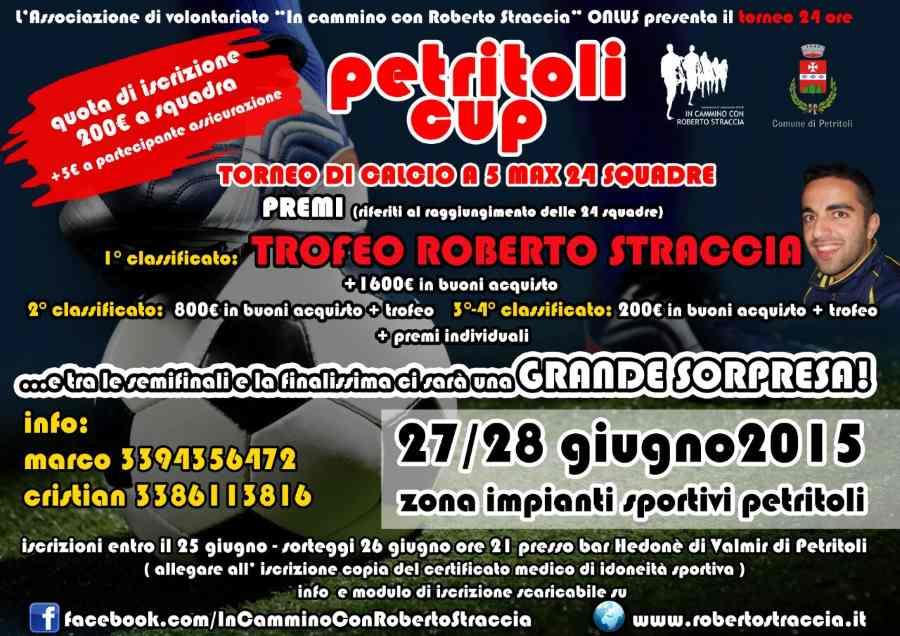 """Sono aperte le iscrizioni alla 2a edizione della """"Petritoli Cup – Torneo 24 ore di calcio a 5"""""""