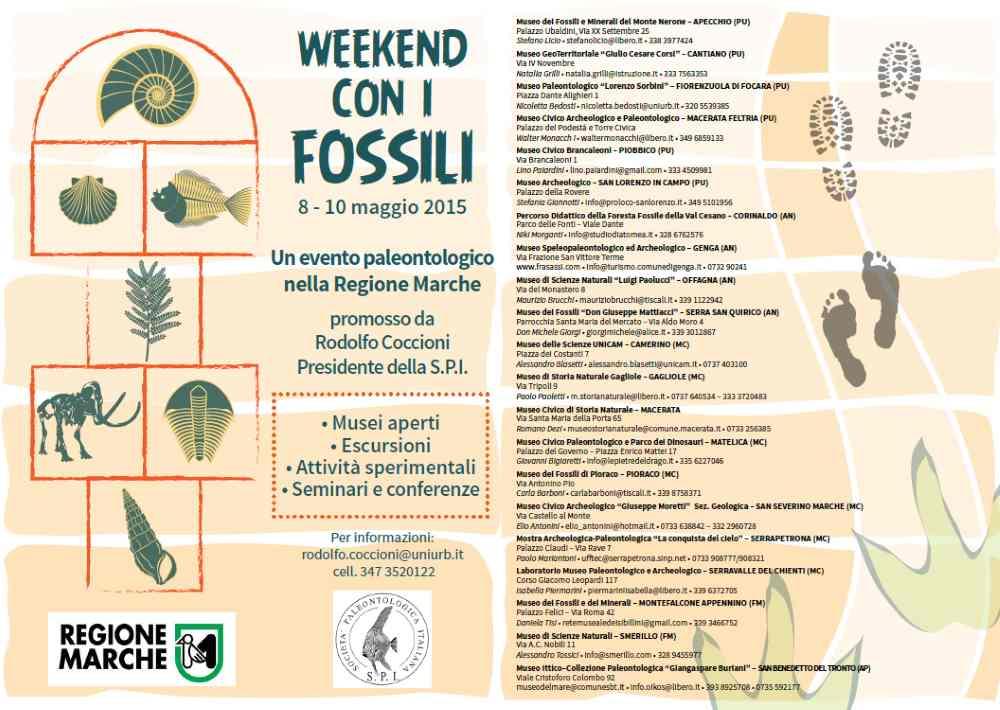 """Dall'8 al 10 maggio nelle Marche il """"Week end con i fossili"""""""