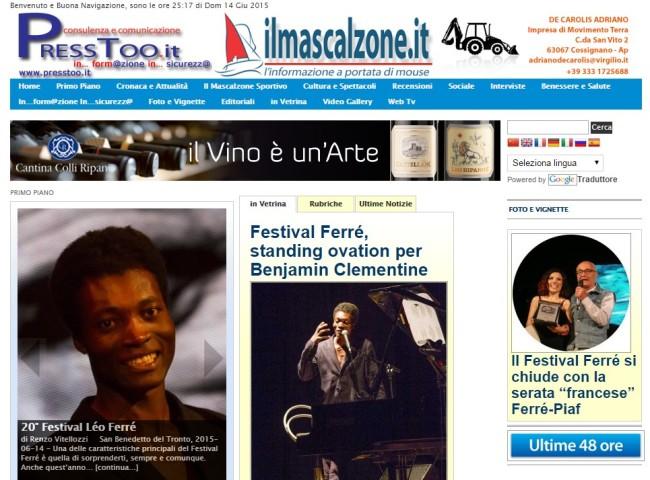 Fesival Ferré - home page www.ilmascalzone.it - 15 giu 2015