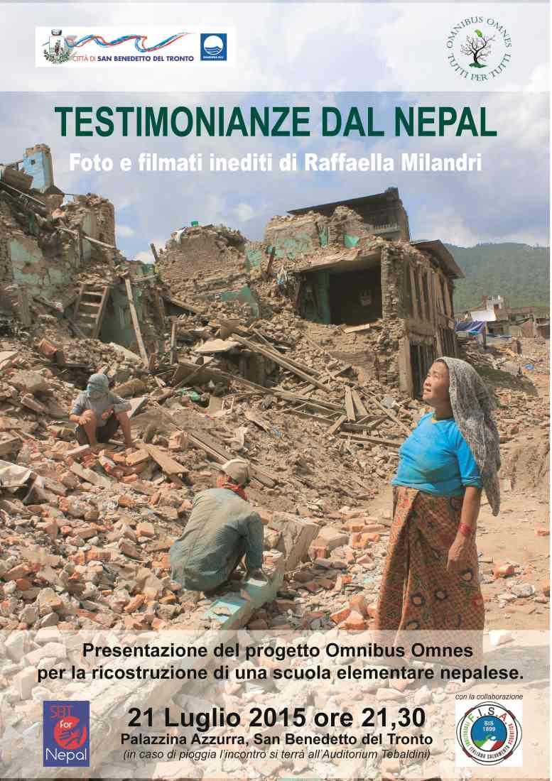 """Omnibus Omnes, Raffaella Milandri: """"Dal Piceno ricostruiremo una scuola in Nepal"""""""