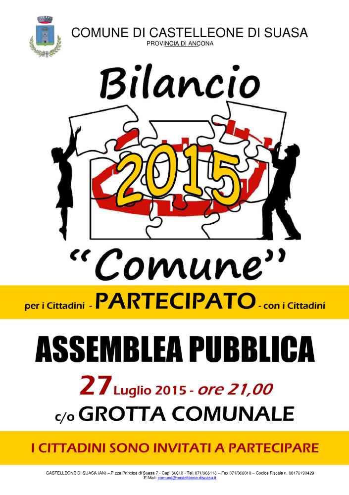 Assemblea Pubblica sul Bilancio 2015 a Castelleone di Suasa