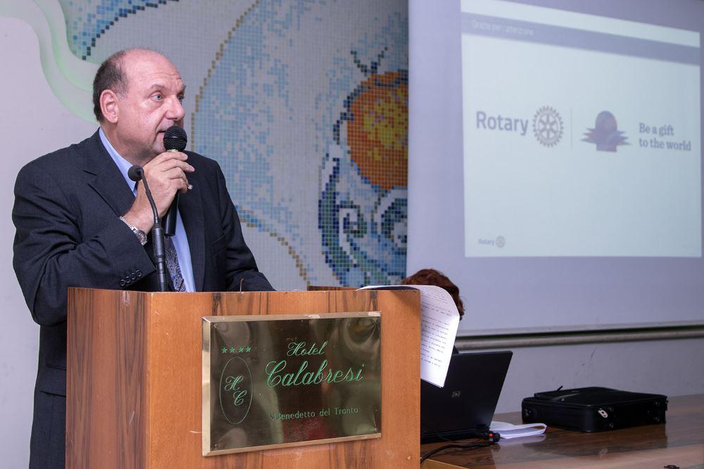 Passaggio del martelletto al Rotary Club  di San Benedetto