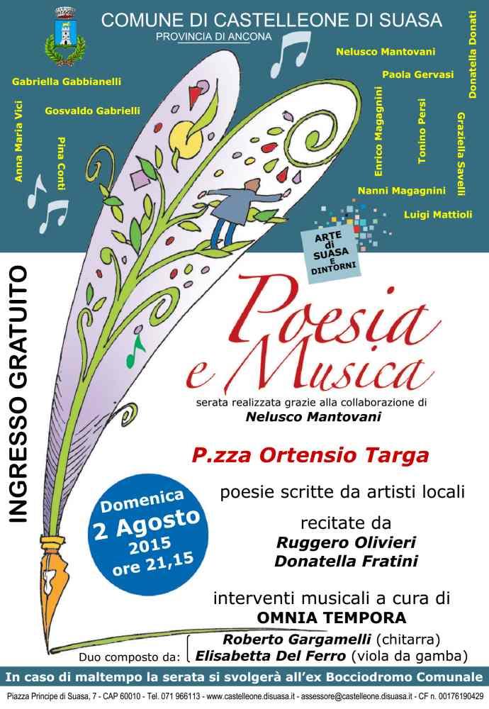 """Serata """"Poesia e Musica"""" a Castelleone"""