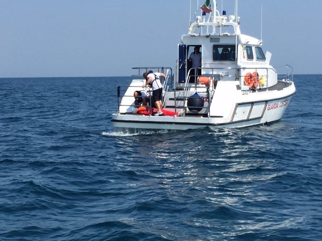 Esercitazione di ricerca e soccorso in mare