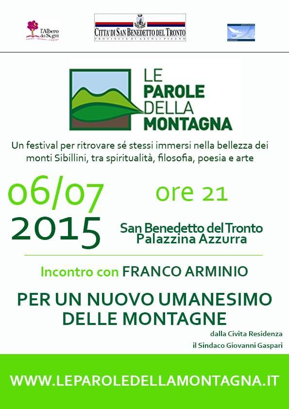 """A San Benedetto l'anteprima di """"Le parole della montagna"""""""
