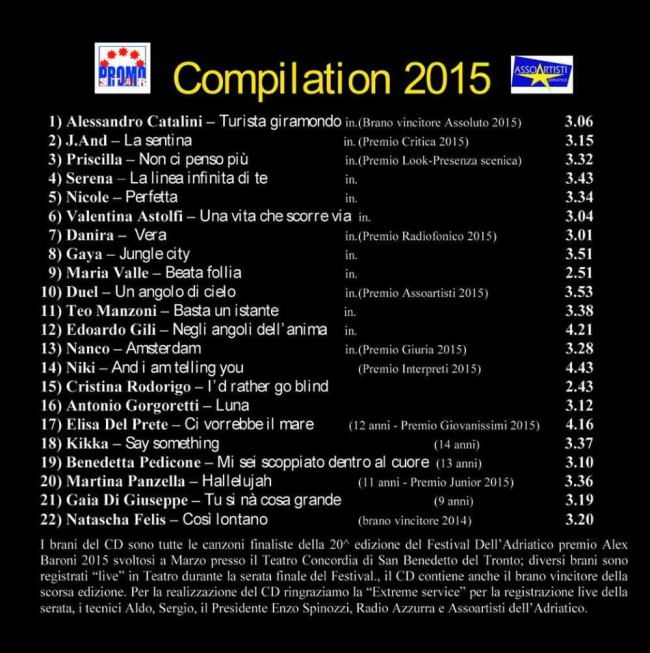 Festival dell'Adriatico, Cd Compilation