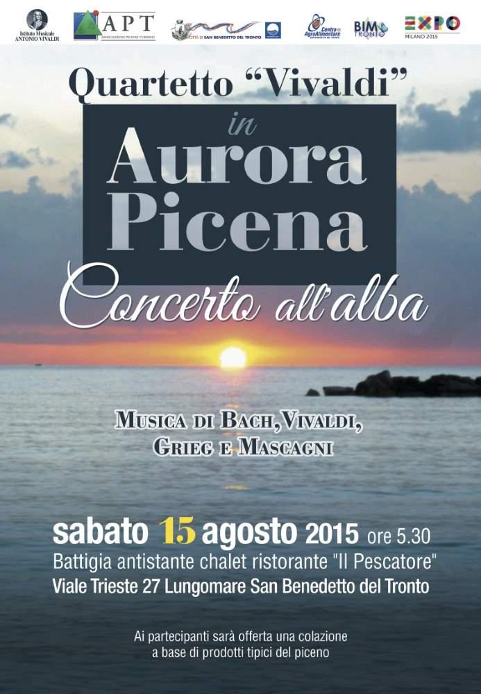 """L'alba di ferragosto sulla spiaggia con il concerto """"Aurora Picena"""""""