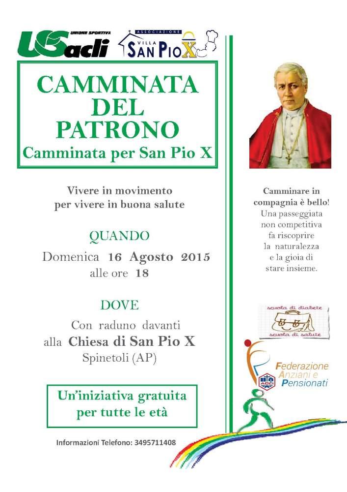 """A Spinetoli la """"Camminata per San Pio X"""""""