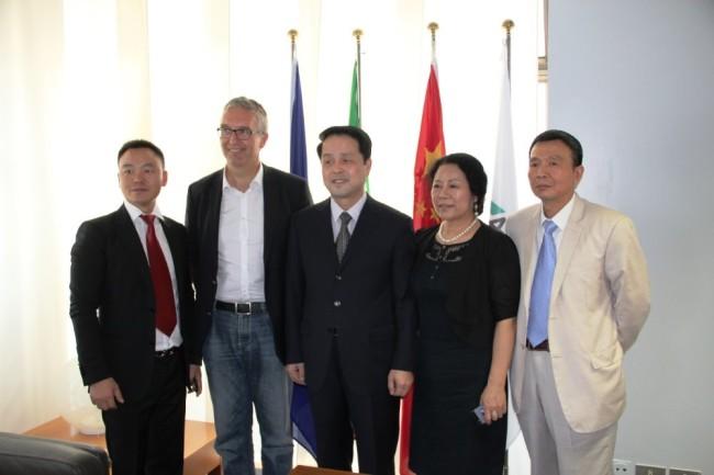 Ceriscioli incontra  Wang Fuguo