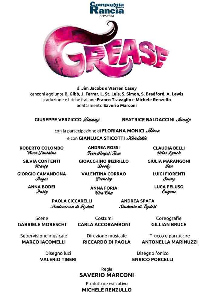 Grease al Teatro La Fenice di Senigallia