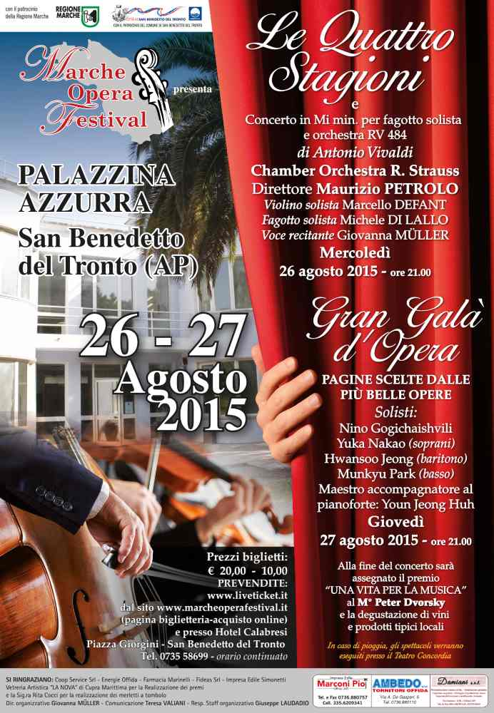 Marche Opera Festival: la grande musica classica a San Benedetto