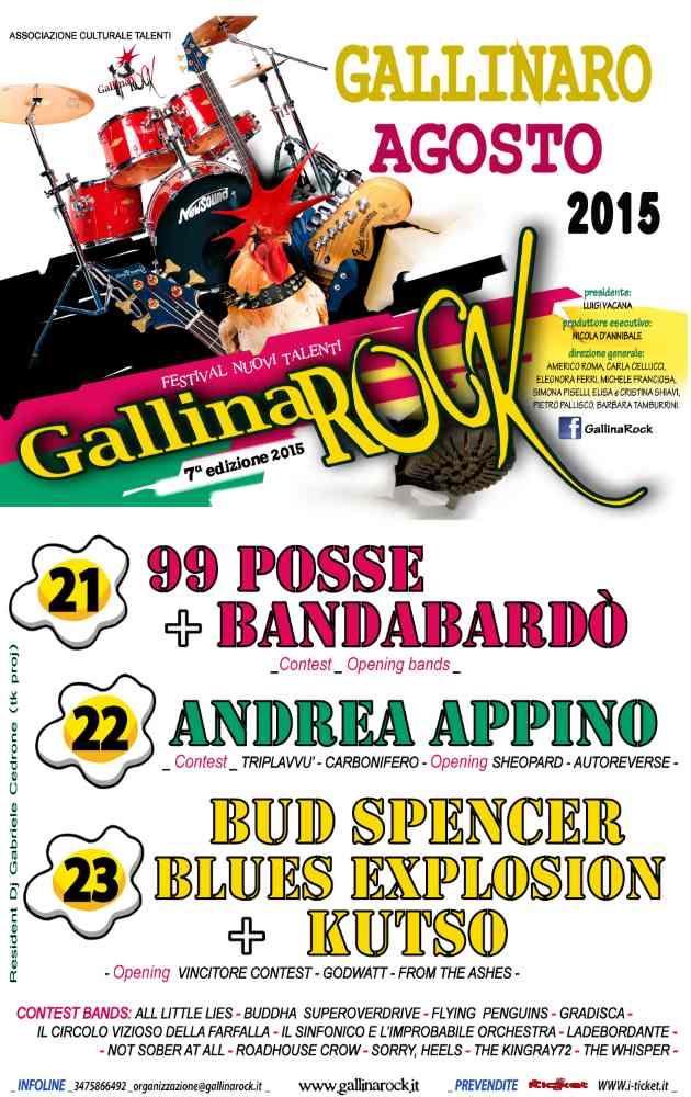 GallinaRock infiammerà l'estate