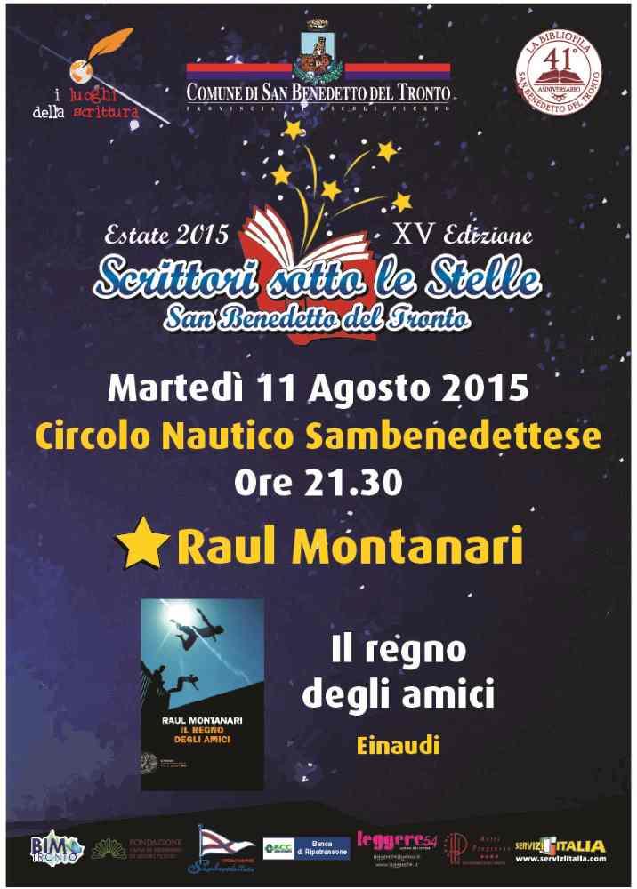 """Raul Montanari presenta il libro """"Il regno degli Amici"""""""