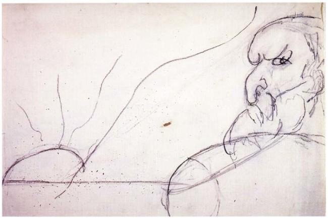 Osvaldo Licini - Leopardi matita su carta