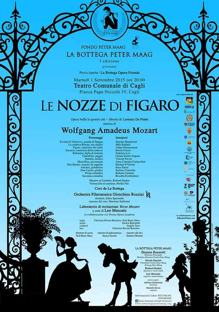"""Al Teatro di Cagli """"prova aperta"""" delle Nozze di Figaro con i giovani della Bottega Peter Maag"""