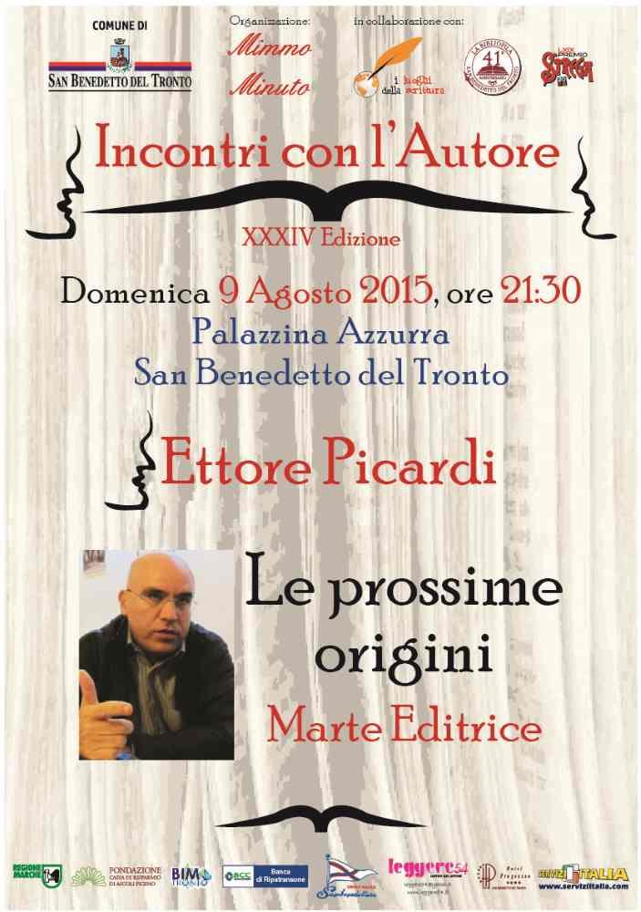 """Ettore Picardi, """"Le prossime origini"""" alla Palazzina Azzurra"""