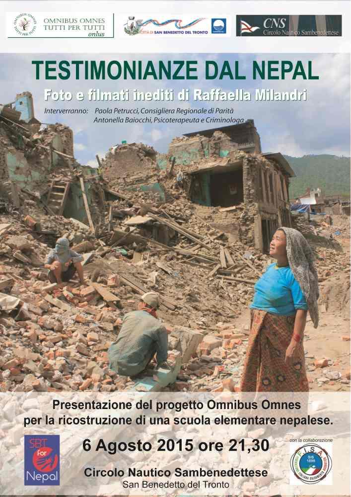 """Raffaella Milandri, """"Testimonianze dal Nepal"""" al Circolo Nautico"""