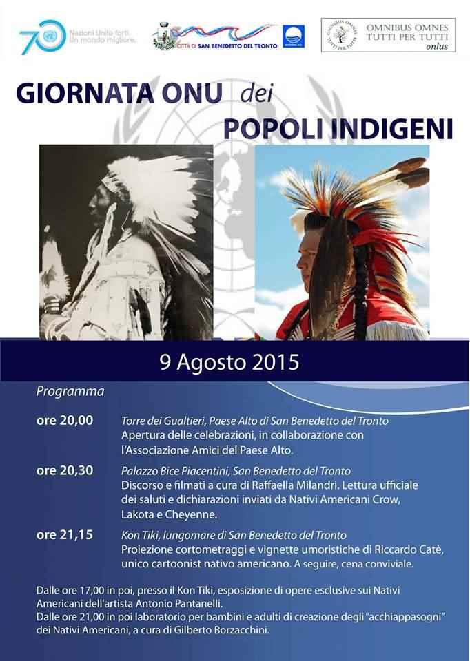 San Benedetto celebra la Giornata Onu dei Popoli Indigeni