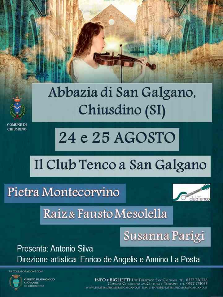 San Galgano incontra il Club Tenco: due giorni all'insegna della canzone d'autore