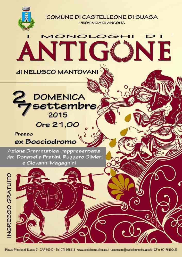 Rappresentazione dei monologhi di Antigone a Castelleone