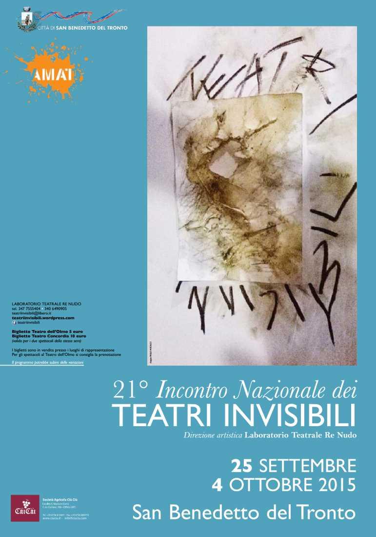 21mo Teatri Invisibili. Workshop di teatro-danza dedicato a Pasolini