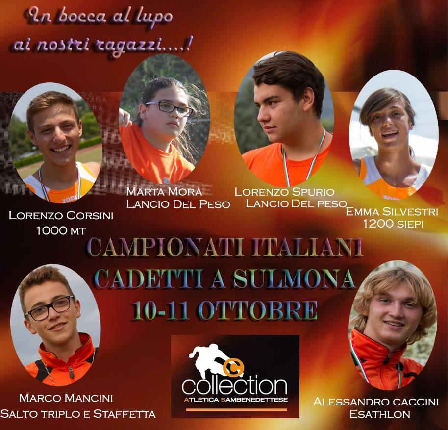 Atletica: a Sulmona nel week-end i verdetti dei titoli nazionali cadetti