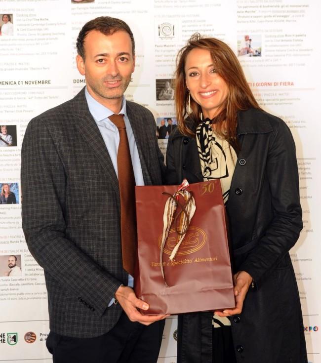 Andrea Pierotti con Elisa Di Francisca