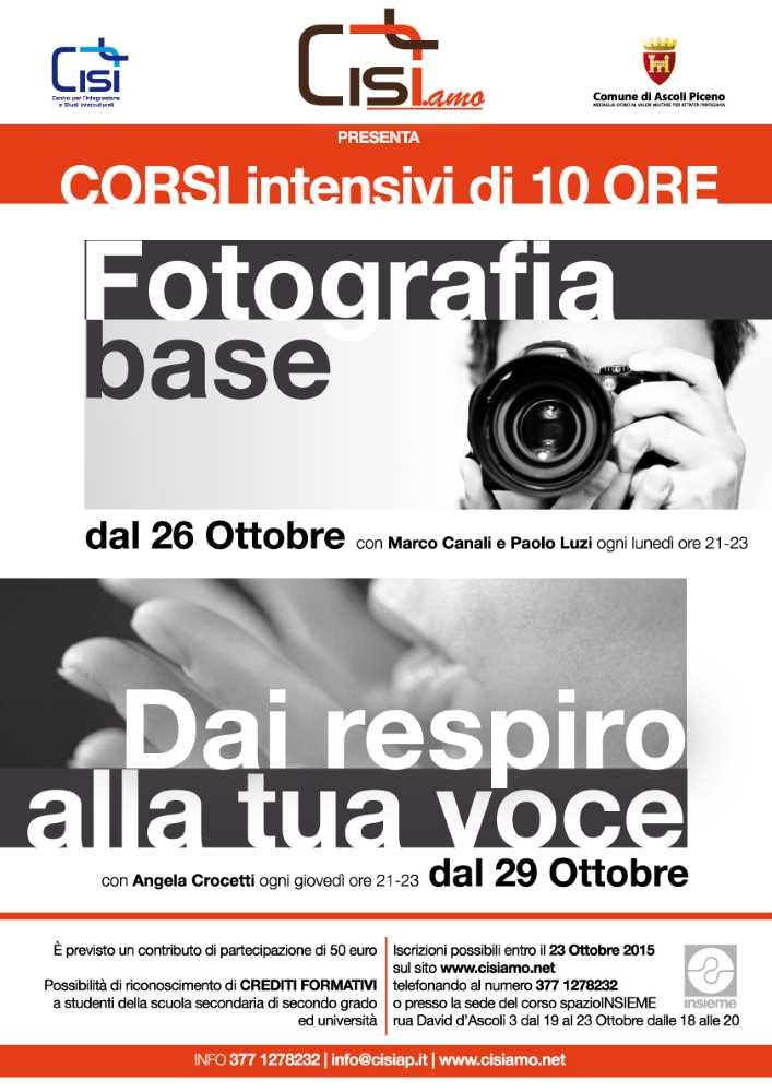 "Corso ""Fotografia base"" con Cisi.amo"