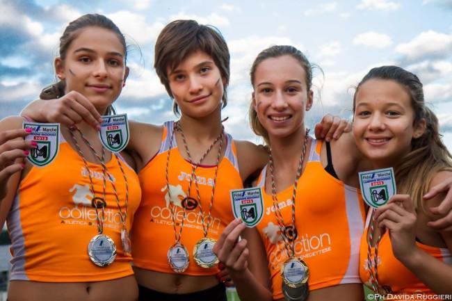 Giorgia Di Salvatore, Anthea Pagnanelli, Isabel Ruggieri, Elena D'Angeli - Campionesse Regionali Staffetta Svedese - categoria ragazze IMG_8377