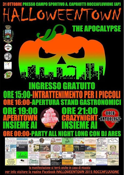 Halloween town in Roccafluvione