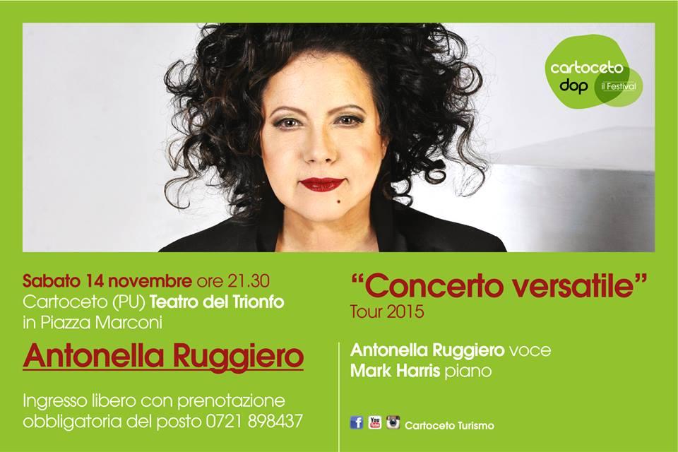 Cartoceto Dop, il Festival: il sabato di Antonella Ruggiero