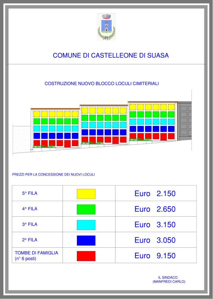 Prenotazioni loculi presso il Civico Cimitero di Castelleone
