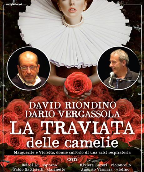 """Riondino e Vergassola, """"La Traviata delle Camelie"""" a Cagli"""