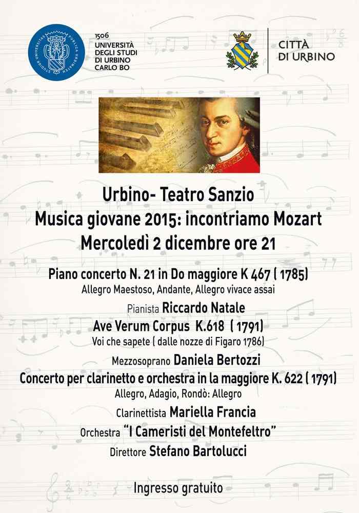 Musica giovane 2015 – incontriamo Mozart a Urbino