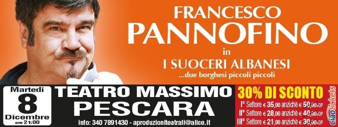 """""""I Suoceri Albanesi"""" con Francesco Pannofino al Teatro Massimo  di Pescara"""