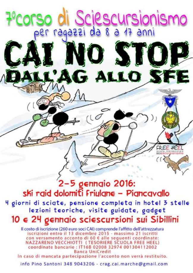 Programma 2016 SciEscurs CAInoStop.locand