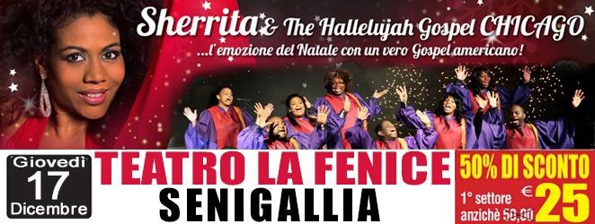 Sherrita & The Hallelujah Gospel Chicago in concerto al Teatro La Fenice di Senigallia