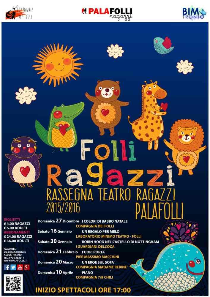Folli Ragazzi: rassegna teatro ragazzi al PalaFolli