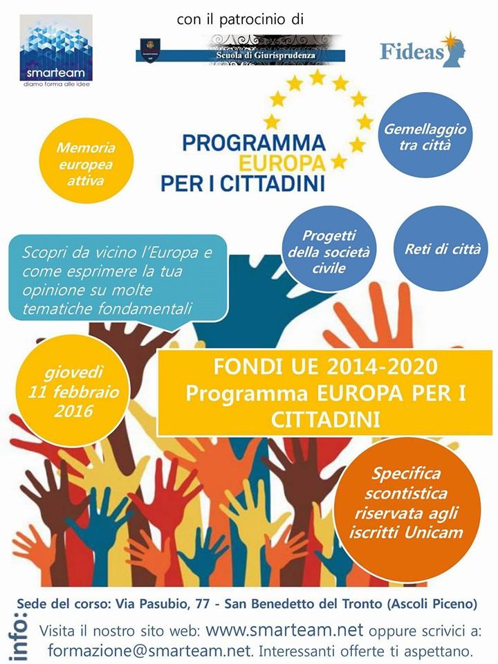Europa per i Cittadini – Nuove opportunità per Comuni, enti pubblici e privati no profit