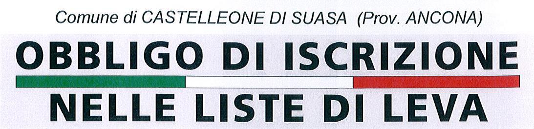 Obbligo di Iscrizione nelle Liste di Leva a Castelleone