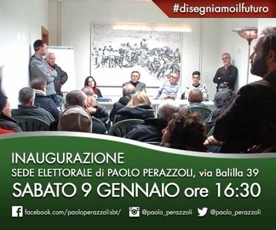 Partecipare, decidere, fare. Paolo Perazzoli inaugura la sede elettorale