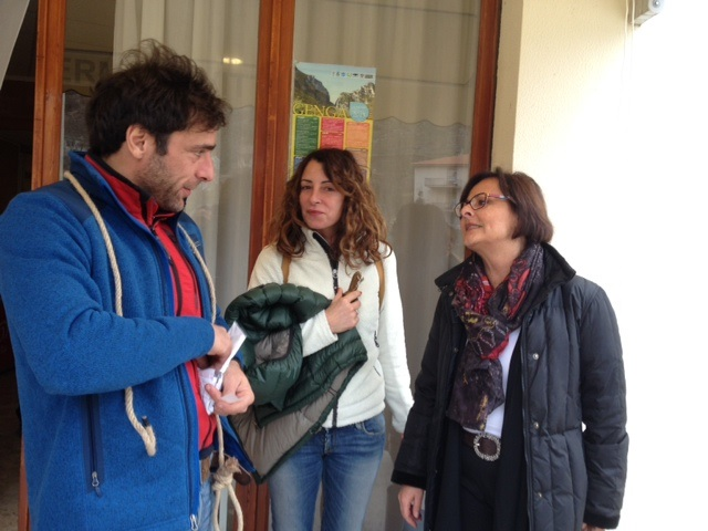 Anna Casini sul set